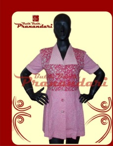 Butik Batik Pranandari Bandung Blus Ploy Pink Bahan Batik Lasem PR137-BLP