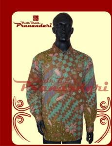 Butik Batik Pranandari Bandung Kemeja Coklat Bahan Batik Cirebon