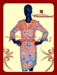 Butik Batik Pranandari Bandung Tunik Dress Bordir Bunga PR684-TNK