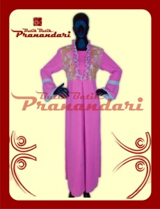 Butik Batik Pranandari Bandung Abaya Sifon Kombinasi Batik PR032-ABY